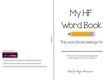 Pearson Reading Street HF Word Books