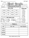 Pearson Reading Street Homework Cover Sheets Unit 2