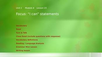 Pearson Ready Gen 2.0 grade 3 powerpoint Unit 1 Lesson 15
