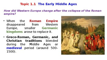 "World History Pearson 2018 Powerpoint Topic 1 ""Medieval Christian Europe"""