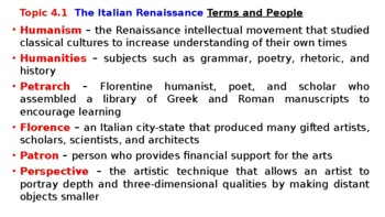 """World History Pearson 2018 Powerpoint Topic 4 """"The Renaissance & Reformation"""""""
