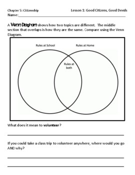 Pearson myWorld My World Social Studies Grade 3 Chapter 5