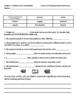 Pearson myWorld My World Social Studies Grade 3 Chapter 7
