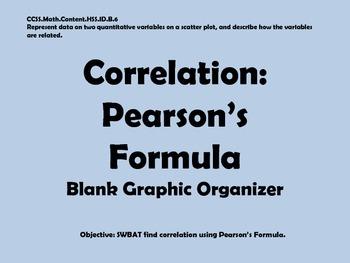 Pearson's Formula Graphic Organizer