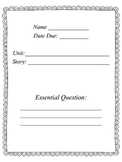 Reading Street 4th grade Common Core Student Log usable for every week