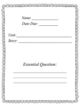 Reading Street 4th grade Common Core Student Log usable fo