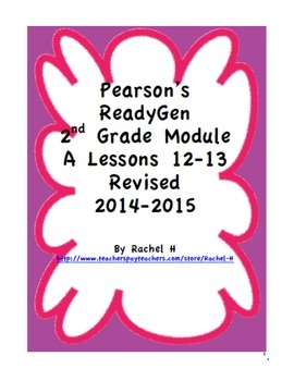 Pearson's Ready Gen 2nd grade, Lessons 12 and 13 (Charlott