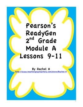 Pearson's Ready Gen 2nd grade, Lessons 9-11 (Charlotte's Web)
