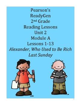 Pearson's Ready Gen 2nd grade, Unit 2 Module A: Lessons 1 - 13
