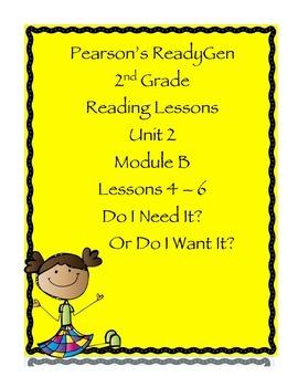 Pearson's Ready Gen 2nd grade, Unit 2 Module B: Lessons 4-6