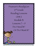 Pearson's Ready Gen 2nd grade, Unit 2 Module B: Lessons 7-9