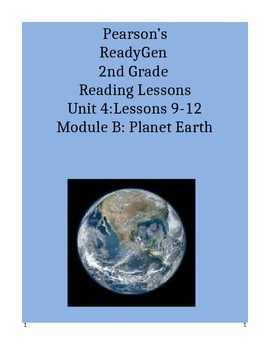 Pearson's Ready Gen 2nd grade, Unit 4 Module B: Lessons 9 - 12