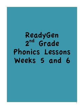 Pearson's ReadyGen 2nd Grade Phonics Lessons:Weeks 5 and 6