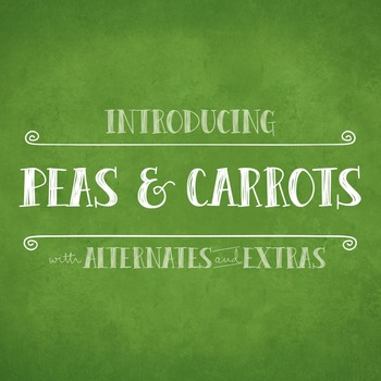Peas & Carrots Font for Commercial Use