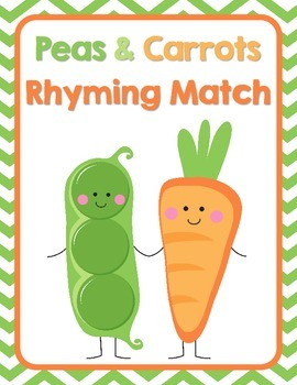 Peas & Carrots Rhyming Picture Match