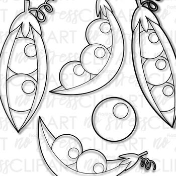 Peas In A Pod Clip Art (Digital Use Ok!)