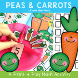 Addition Game Activity and Worksheet - Peas and Carrots