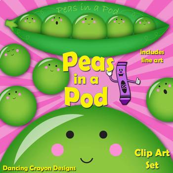Peas in a Pod - Clip Art Peas in a Peapod