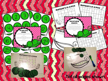 Peas in a Pod - Number Centers