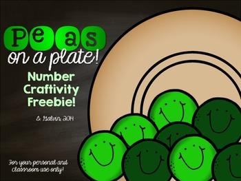Peas on a Plate Number Craftivity Freebie!