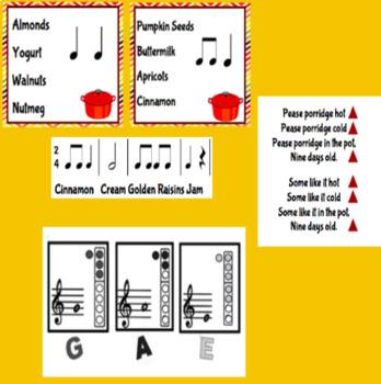 Pease Porridge: Beginning Rhythms to Recorder Playing
