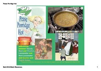 Pease Porridge Hot SMARTboard activities - Steady Beat vs. Rhythm