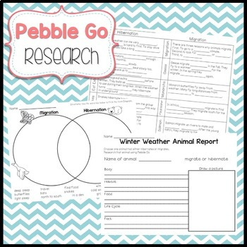PebbleGo: Animal Behavior...Hibernate and Migrate