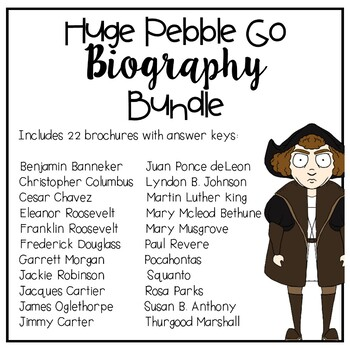 Pebble Go Biography Bundle