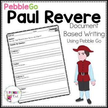 PebbleGo: Document Based Writing  Paul Revere