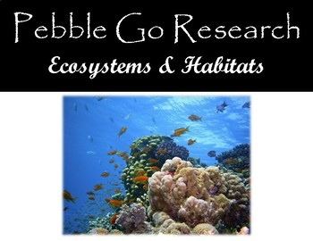 Pebble Go Ecosystems & Habitats Research, Note-Taking, & Writing to Source