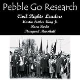 Pebble Go Martin Luther King Jr., Rosa Parks, & Thurgood Marshall