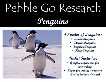 Pebble Go Penguins - Research & Write to Source