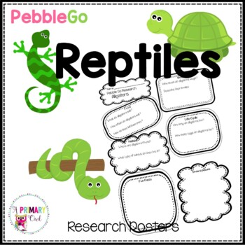 PebbleGo Reptiles Research Posters