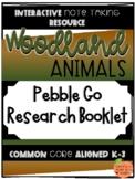 Pebble Go Research Booklet - Animal Habitats - Woodland Animals