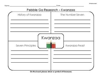 Pebble Go Research & Write - December Holidays - Hanukkah, Christmas, Kwanzaa