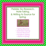 Pebble Go Spring Research, Note-taking, & Writing to Source