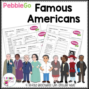 PebbleGo Third Grade Famous Americans Research Brochures