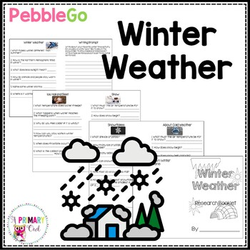 PebbleGo Winter Weather Research Booklet
