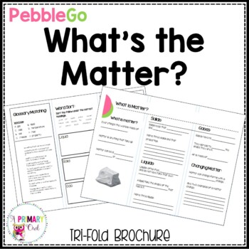 Pebble Go research brochure: What is Matter?