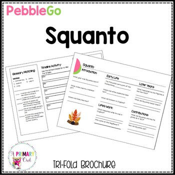 Pebble Go research brochure: Squanto