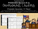 PebbleGO Research It: Government Leaders (Mayor, Governor, President)