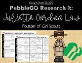 PebbleGO Research It: Juliette Gordon Low, Founder of the Girl Scouts