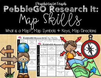 PebbleGO Research It: Map Skills (What is a Map, Symbols & Keys, Map Directions)