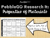 PebbleGO Research It: Properties of Materials (Hard/Soft, Hot/Cold, Shiny/Dull)