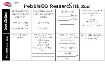 PebbleGO Research It: Stars