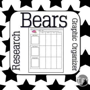 PebbleGo Bears Graphic Organizer