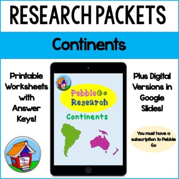 PebbleGo Continents Research