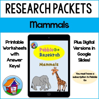 PebbleGo Mammals Research