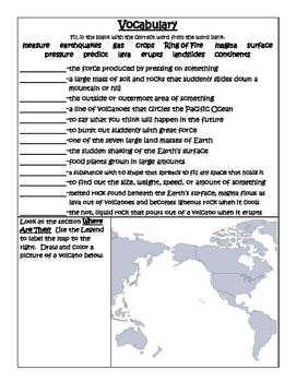 PebbleGo ~ Volcanoes Research Graphic Organizer