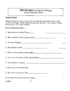 Pecos Bill Literature Guide